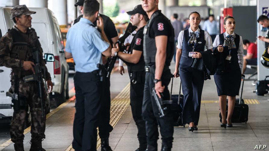 الأمن التركي بمطار إسطنبول - صورة أرشيفية