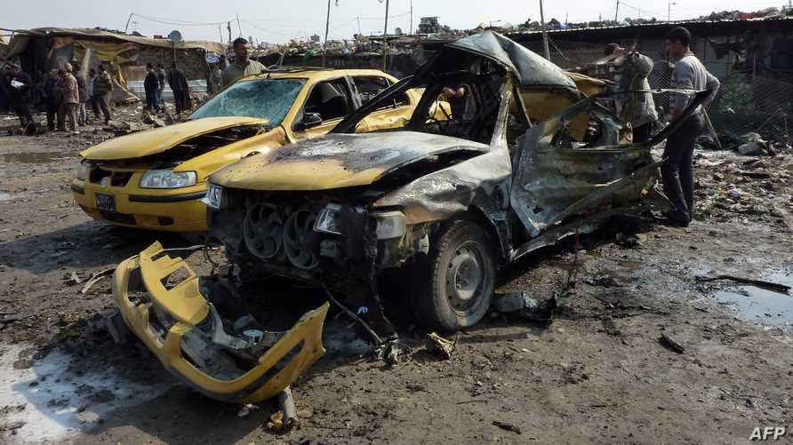 مخلفات تفجير سابق في العراق