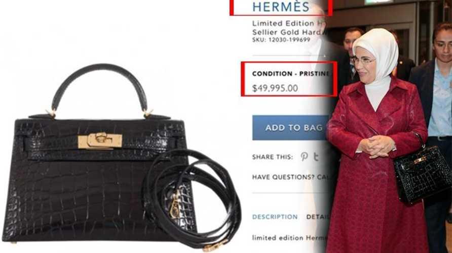 حقيبة زوجة أردوغان قيمتها 50 ألف دولار