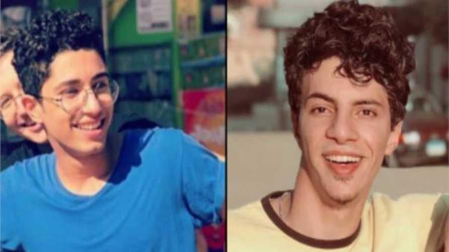 على اليمين المتهم محمد راجح وعلى اليسار الضحية محمود البنا