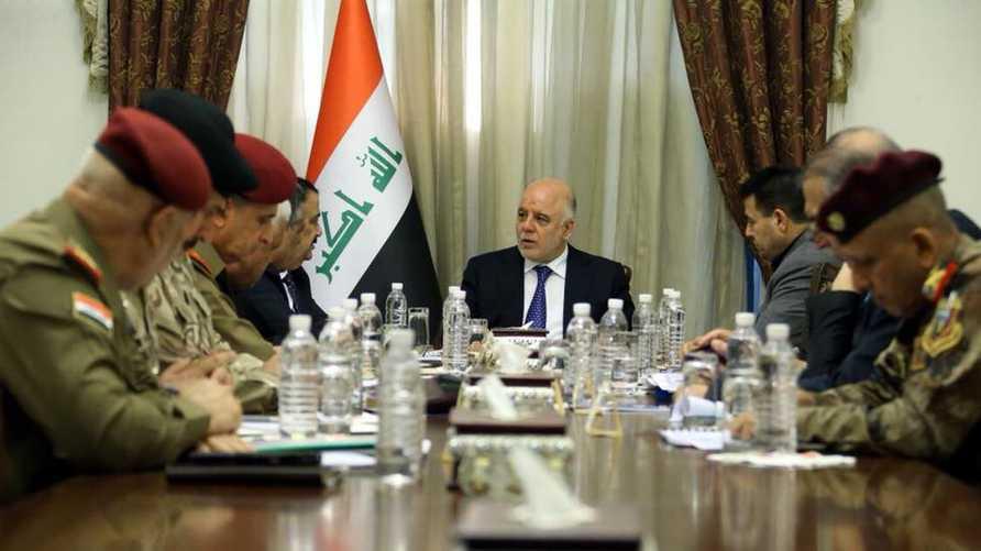 حيدر العبادي خلال اجتماع المجلس الوزاري للأمن الوطني