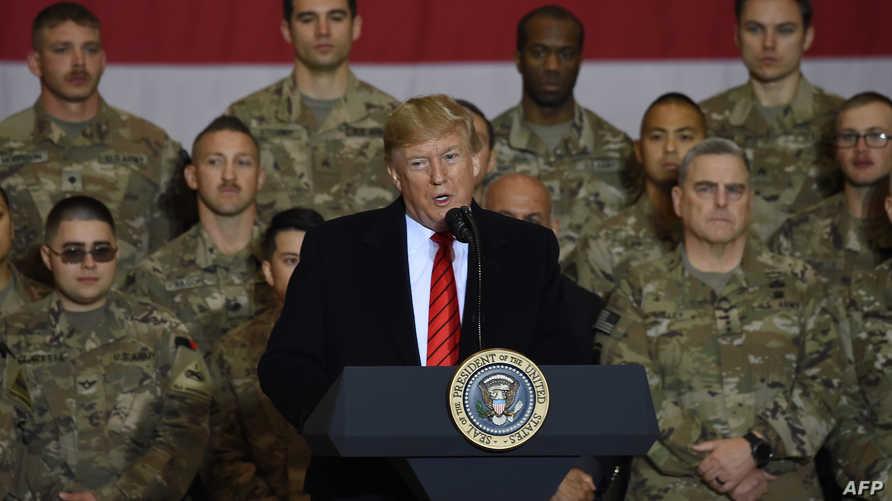 تعهد ترامب أمام الجنود أن الإرهابيين لن يفلتوا من أميركا