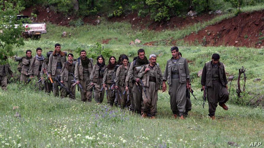 مقاتلون في حزب العمال الكردستاني في شمال العراق- أرشيف