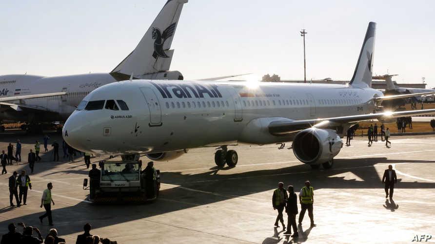 """أولى طائرات إيرباص A321 التي استلمتها شركة """"إيران للطيران"""" عام 2017 ضمن صفقة من 100 طائرة"""