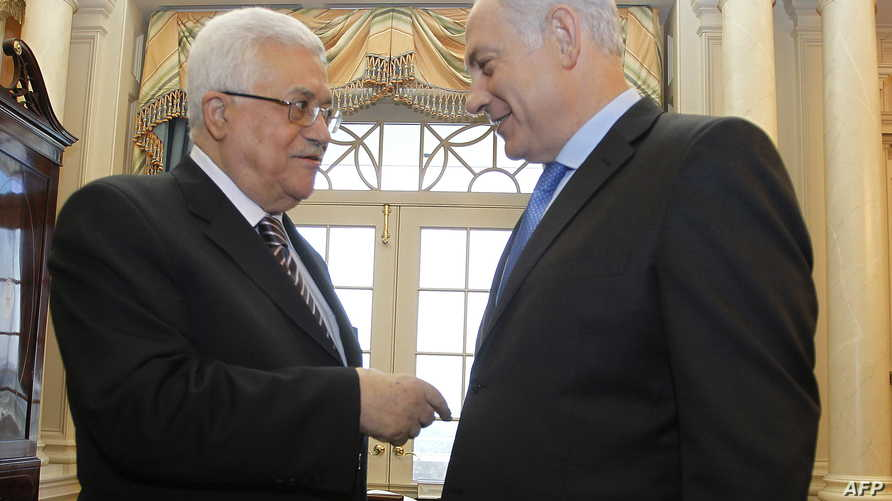 لقاء سابق بين عباس ونتانياهو