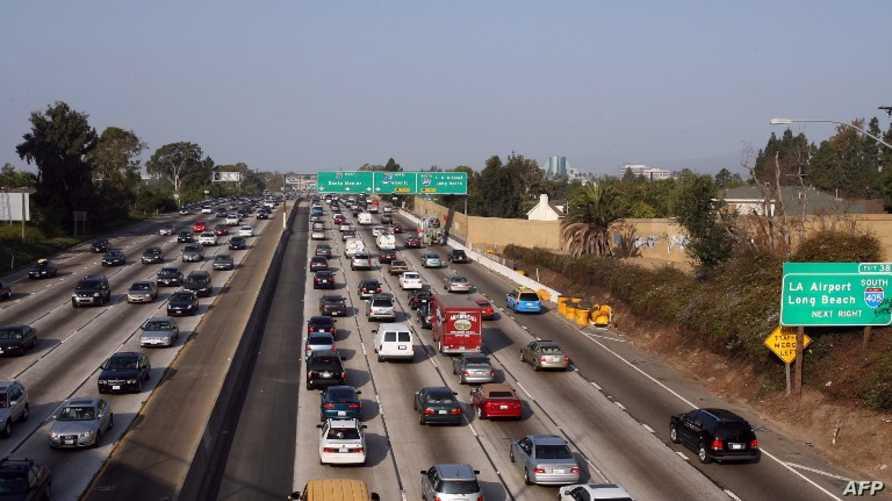 ازدحام مروري في مدينة لوس أنجلس