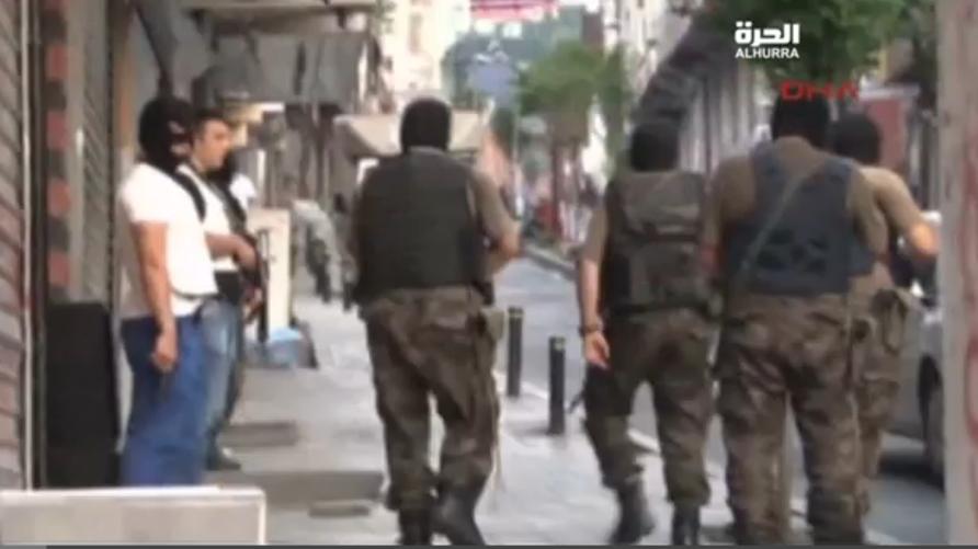 رجال الأمن في إحدى المدن التركية