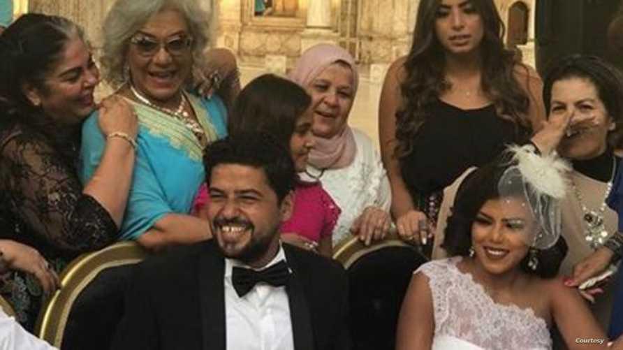 العروسان ناهد السباعي ومحمد عبد ربه