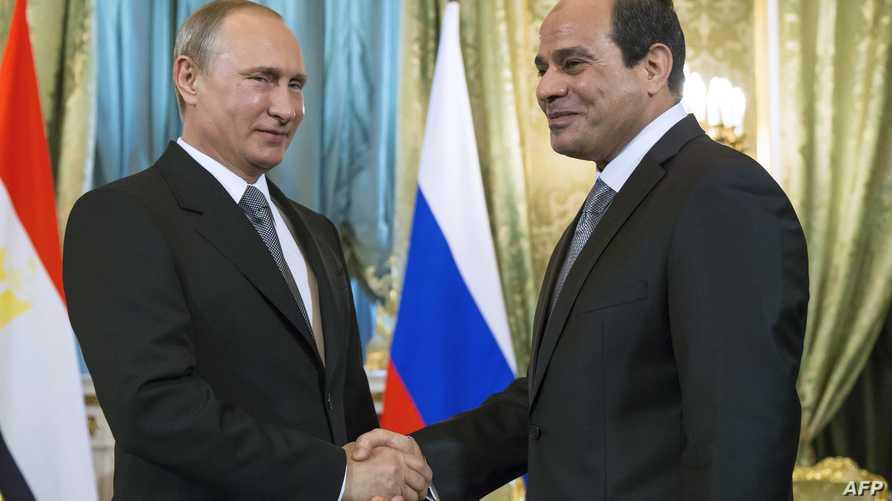 بوتين يستقبل السيسي في موسكو- أرشيف