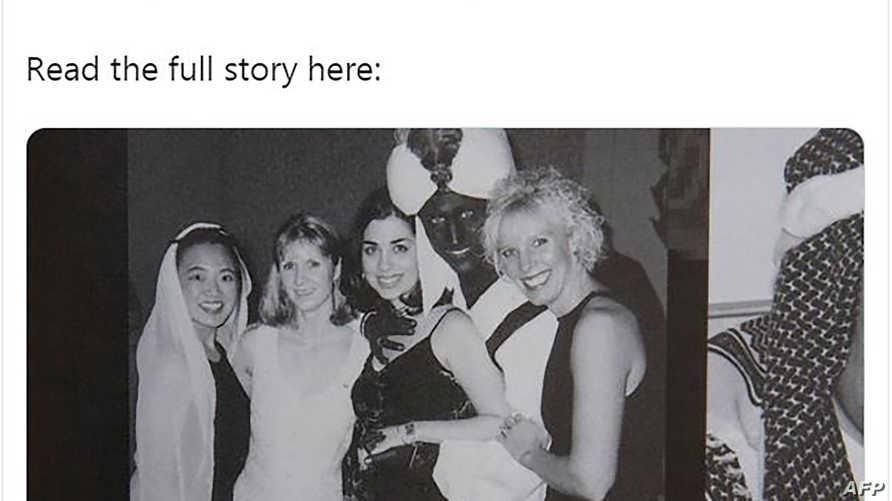 صورة ترودو التي انفردت بنشرها مجلة تايم وهو متنكر بشكل رجل أسود