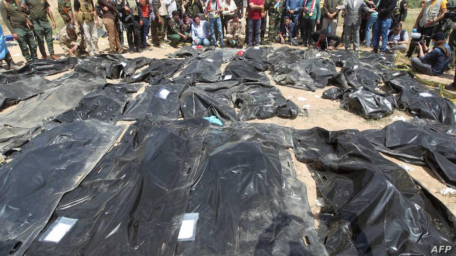 جانب من ضحايا مجزرة سبايكر -أرشيف