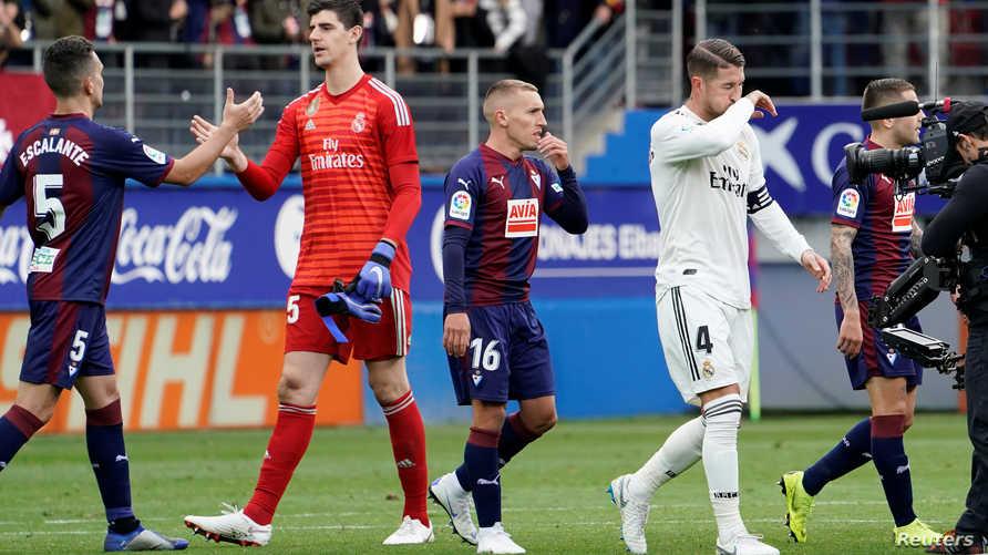 مع نهاية مباراة ريال مدريد التي خسرها بثلاثية نظيفة على يد مضيفه إيبار