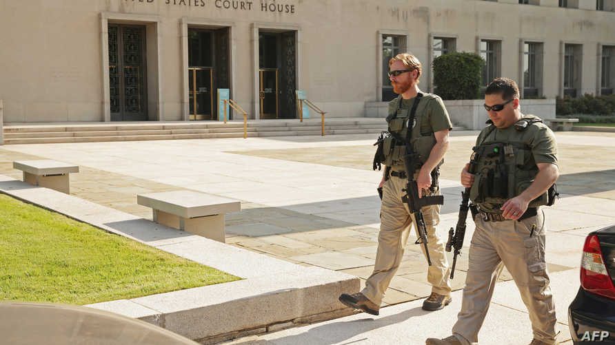 تشديد الإجراءات الامنية أمام محكمة في واشنطن خلال محاكمة أبو ختالة في تموز/يوليو الماضي
