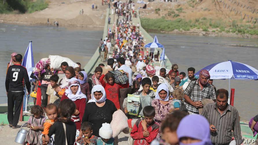 أيزيديون فارون من داعش