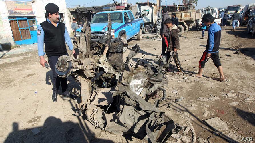 أضرار خلفها انفجار سابق في بغداد-أرشيف