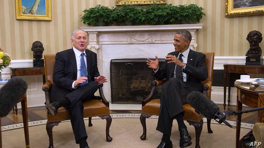 الرئيس باراك أوباما ورئيس الوزراء بنيامين نتانياهو، أرشيف