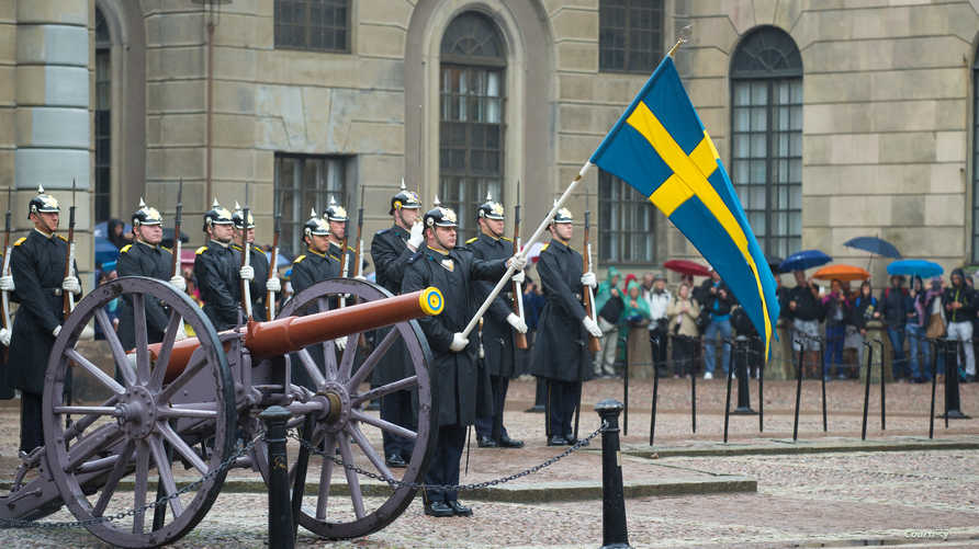 قوات سويدية في ستوكهولم