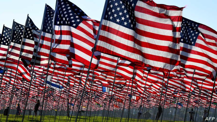 رايات أميركية تخليدا لذكرى 11 سبتمبر