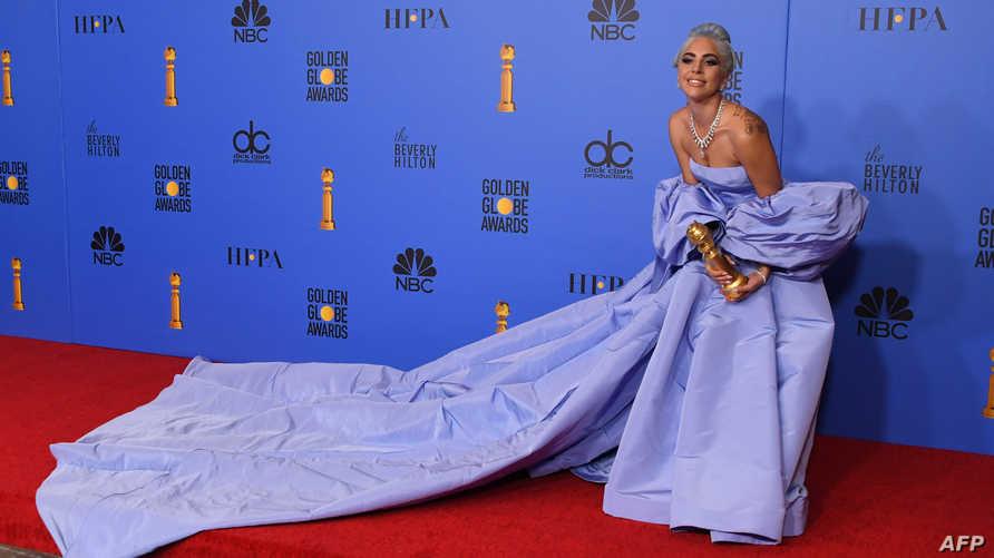 """نالت جائزة أفضل أغنية بجدارة ليدي غاغا عن دورها في فيلم """"مولد نجمة"""""""