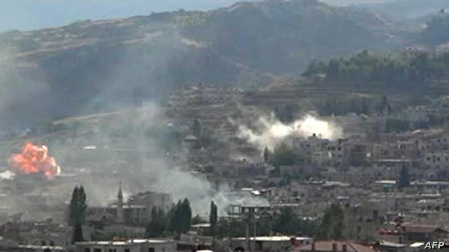 مخلفات قصف سابق على الزبداني - أرشيف