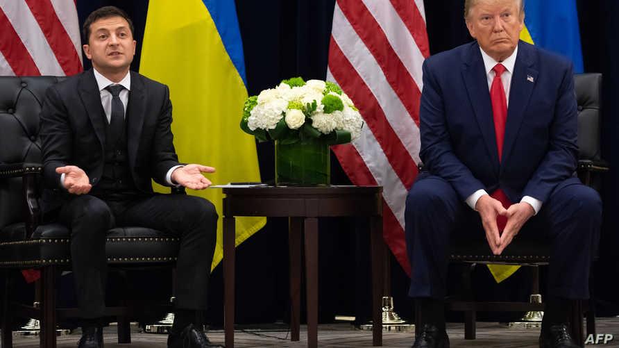 ترامب وزيلينسكي خلال لقائهما في نيويورك، 25 سبتمبر 2019