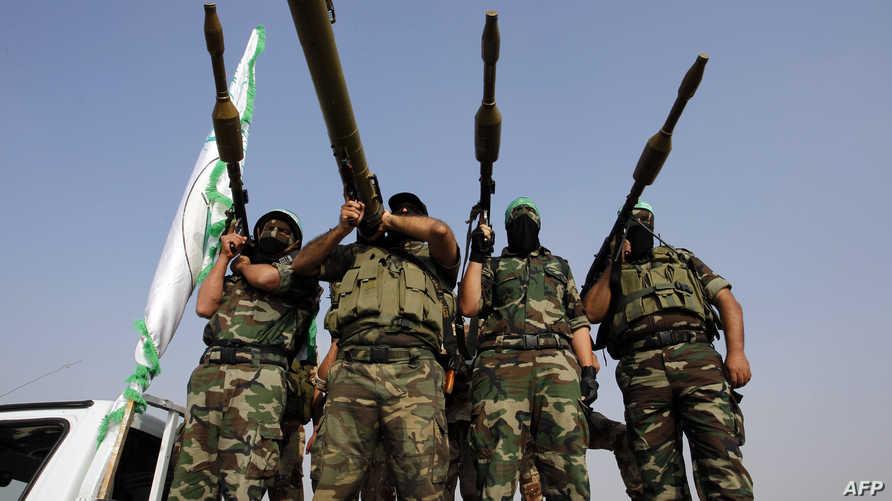 مسلحون من كتائب عز الدين القسام الجناح العسكري لحركة حماس
