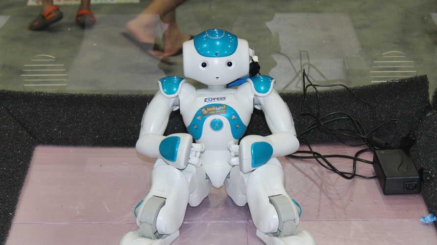 روبوت يرقص على أنغام غانغنام ستايل في المهرجان