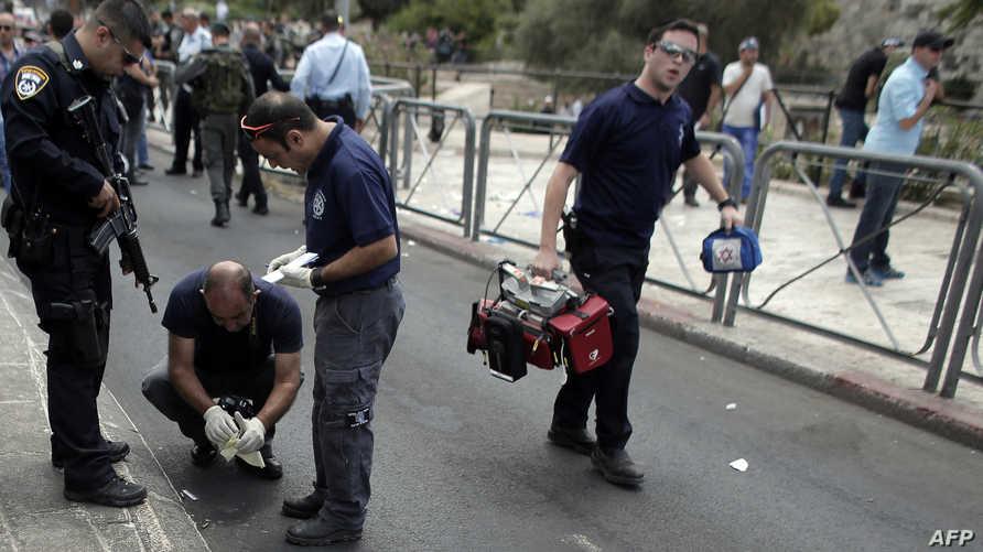 موقع حادث طعن جندي إسرائيلي  في القدس