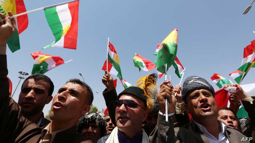 محتجون أكراد يطالبون باستقلال إقليم كردستان عن العراق