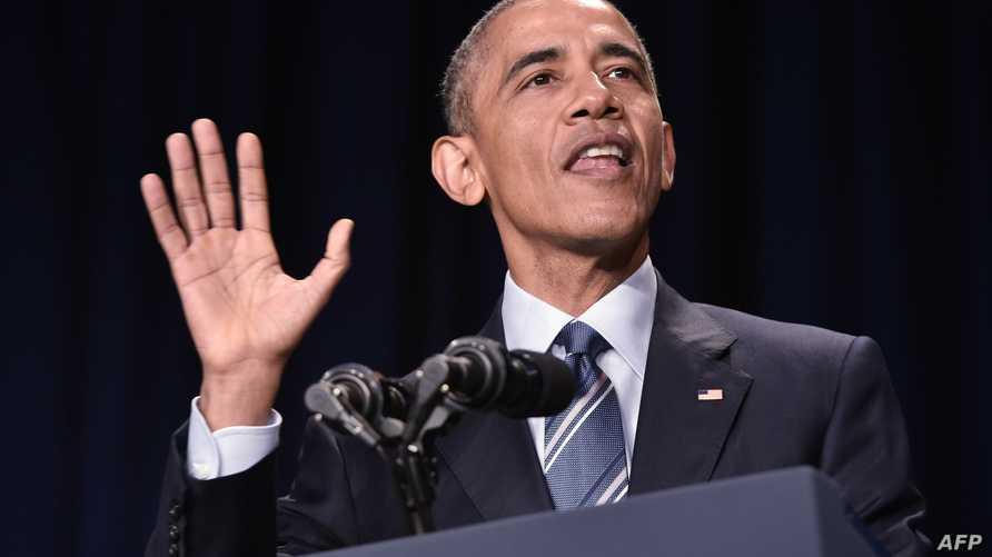 الرئيس أوباما خلال حفل إفطار الصلوات السنوي