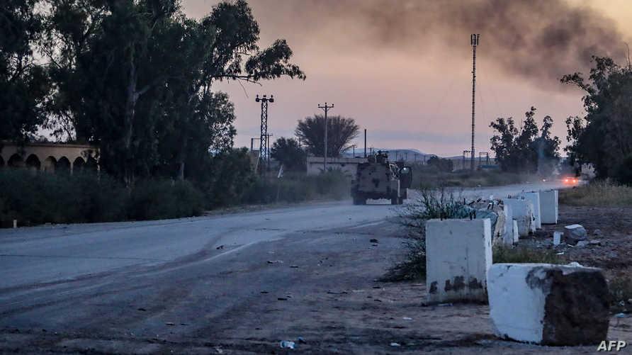 دخان ناجم عن انفجارات في طرابلس