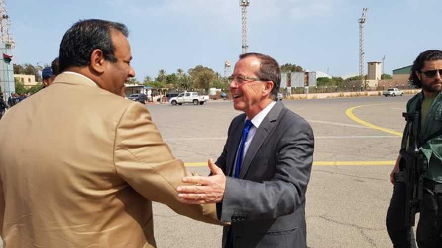 وصول كوبلر إلى طرابلس -المصدر: حساب كوبلر على تويتر