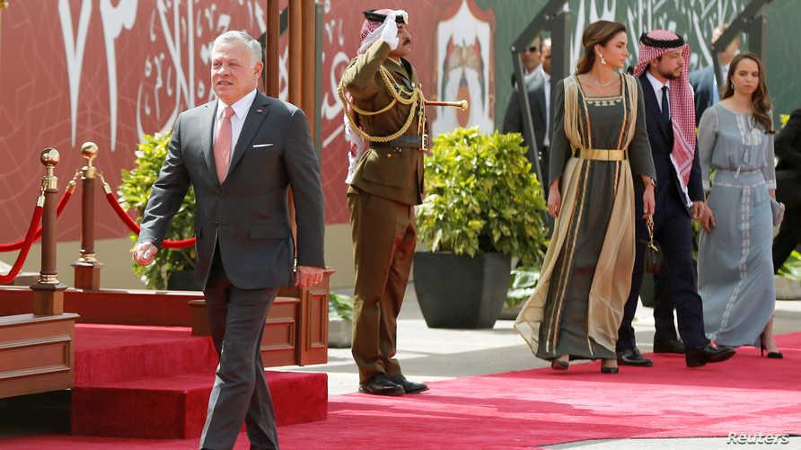 الملك الأردني مشاركا في احتفالات عيد استقلال الأردن