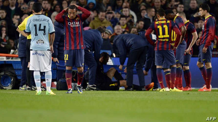 صدمة في صفوف لاعبي برشلونة بعد إصابة  فالديس