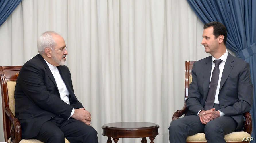ظريف يلتقي الرئيس السوري