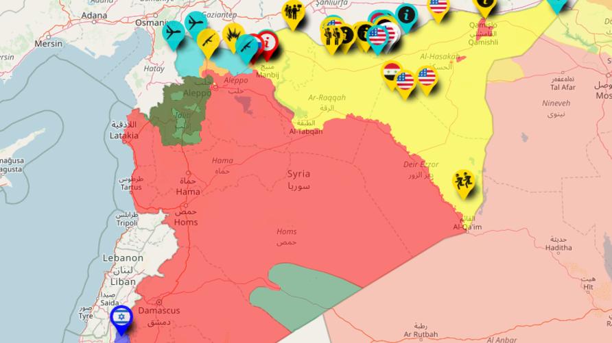 خريطة للصراع في سوريا - المصدر: موقع Syrian Civil War Map