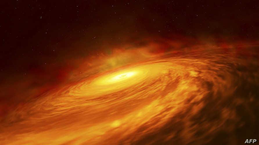 صورة التقطتها وكالة الفضاء الأوروبية لثوران انفجار ضوئي في الثقب الأسود في مركز مجرة درب التبانة