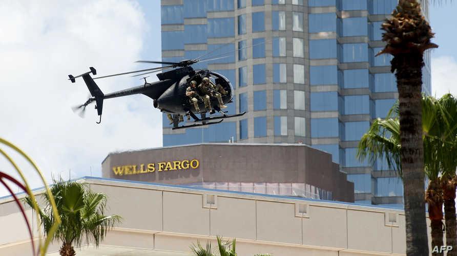 """مروحية عسكرية من طراز MH-6 المعروفة بـ""""ليتل بيرد""""- أرشيف"""