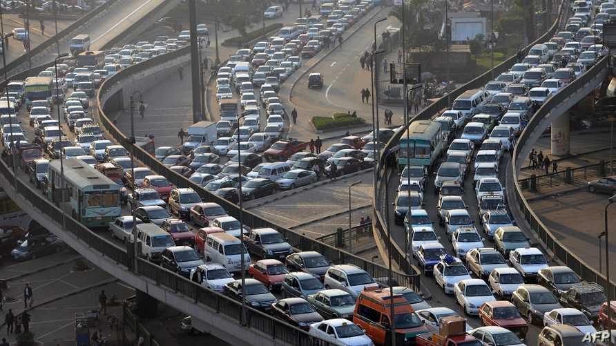 """مشهد عام لـ""""كوبري"""" 6 أكتوبر في القاهرة"""