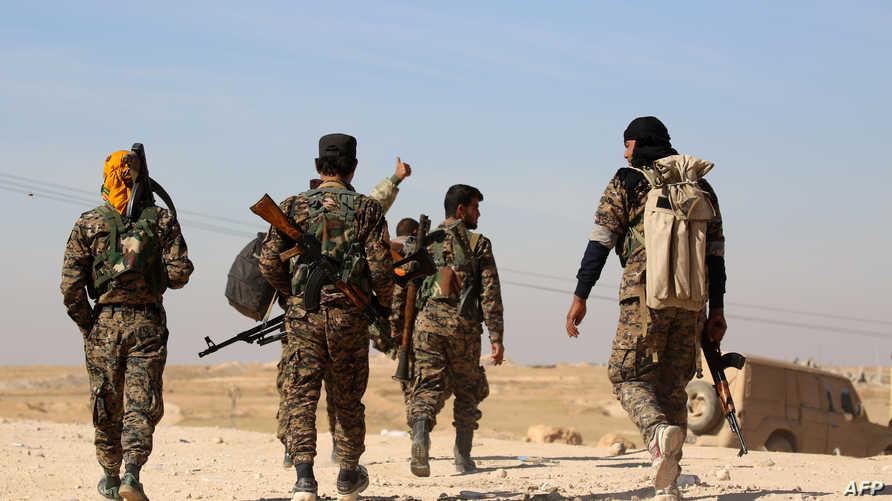 عناصر من قوات سورية الديموقراطية، أرشيف