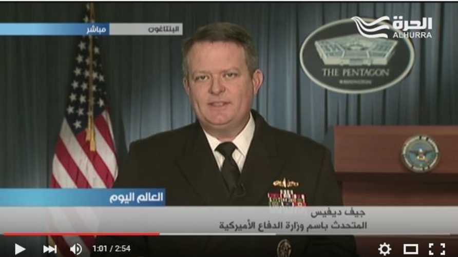 المتحدث باسم وزارة الدفاع الأميركية الكابتن جيف ديفيس