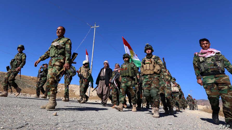 عناصر في قوات البيشمركة الكردية- أرشيف