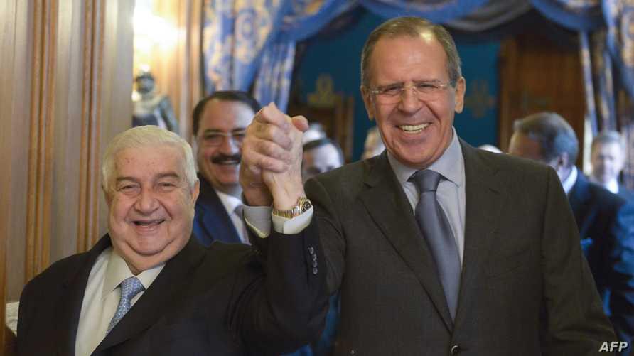 لقاء سابق بين وزيري خارجية سورية وروسيا في موسكو