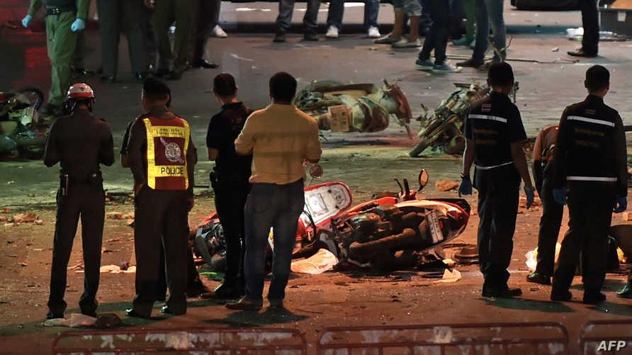 موقع الانفجار في بانكوك