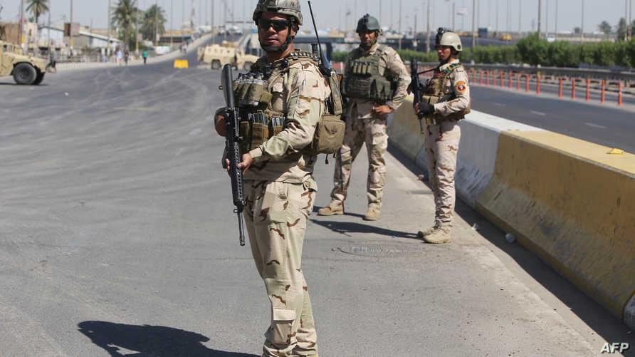 عناصر في الجيش العراقي في بغداد