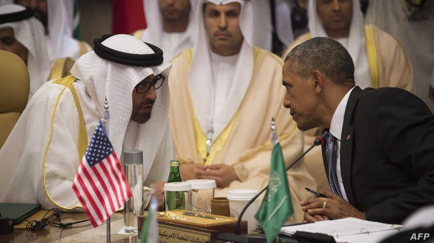 أوباما خلال مشاركته في القمة الخليجية