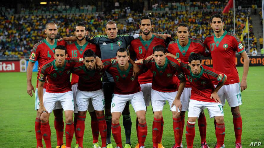 منتخب المغرب خلال منافسات كأس إفريقيا الماضية