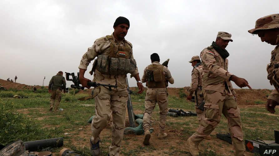 قوات عراقية قرب الموصل -أرشيف