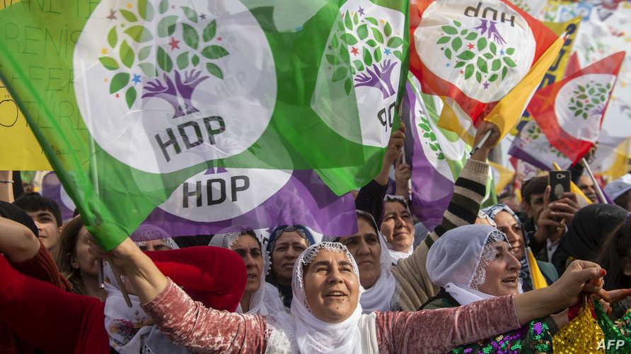 تظاهرة لمناصري حزب الشعوب الديمقراطي في اسطنبول