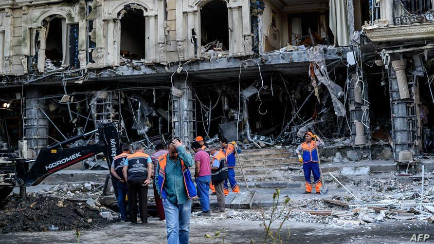 مخلفات تفجير سابق في تركيا
